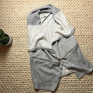 Anthropologie terrycloth zipper vest